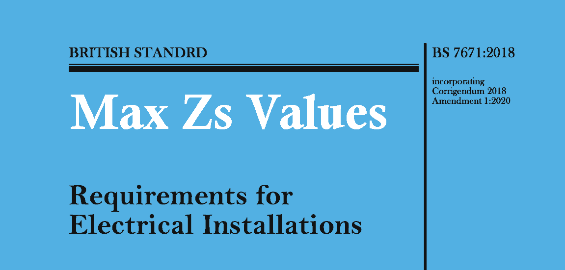 18th Edition Zs Values